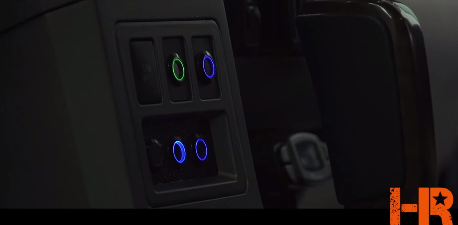 Custom mounted halo switches from GTR Lighting.